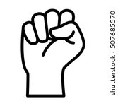 raised fist   symbol of victory ... | Shutterstock .eps vector #507685570