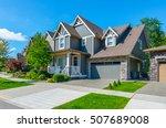 big custom made luxury house... | Shutterstock . vector #507689008