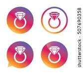 jewelry sign icon. ring with... | Shutterstock .eps vector #507690358