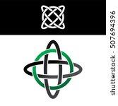 celtic overlapped green black... | Shutterstock .eps vector #507694396