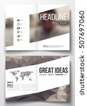 set of business templates for... | Shutterstock .eps vector #507697060