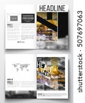 set of business templates for... | Shutterstock .eps vector #507697063