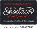trendy textured one line... | Shutterstock .eps vector #507697780