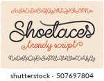 trendy textured one line... | Shutterstock .eps vector #507697804