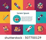 children's toy icons set | Shutterstock .eps vector #507700129