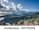 view of the taormina city and... | Shutterstock . vector #507701398