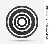 target aim sign icon. darts... | Shutterstock .eps vector #507706804