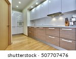 Stock photo kitchen with appliances and a beautiful interior 507707476