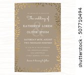 wedding invitation card... | Shutterstock .eps vector #507710494