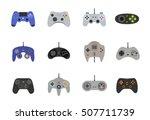 gamepads vector icon set in... | Shutterstock .eps vector #507711739