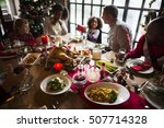family together christmas... | Shutterstock . vector #507714328