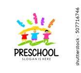 preschool  kindergarten logo...   Shutterstock .eps vector #507716746