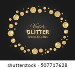 black and gold background with... | Shutterstock .eps vector #507717628