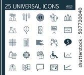 set of 25 universal editable... | Shutterstock .eps vector #507720040