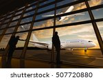 tourists at the airport.... | Shutterstock . vector #507720880