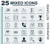 set of 25 universal editable... | Shutterstock .eps vector #507724450