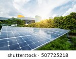 solar panels in the park of... | Shutterstock . vector #507725218