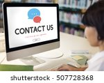 contact us information support... | Shutterstock . vector #507728368