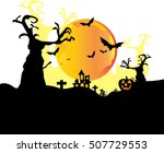 happy halloween night background | Shutterstock .eps vector #507729553