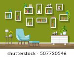 illustration of interior... | Shutterstock .eps vector #507730546