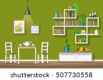 illustration of interior... | Shutterstock .eps vector #507730558