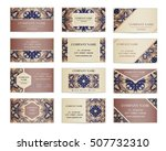 set of business cards. template ... | Shutterstock .eps vector #507732310