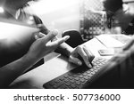 outsource developer working on... | Shutterstock . vector #507736000