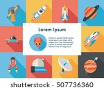space and astronomy icons set | Shutterstock .eps vector #507736360