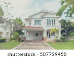 vintage tone blur image of... | Shutterstock . vector #507739450