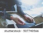 website designer working... | Shutterstock . vector #507740566