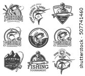 set of vintage fishing emblems  ... | Shutterstock . vector #507741460