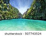 philipphine islands beach sea...   Shutterstock . vector #507743524