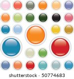 24 Glossy Colorful Buttons....