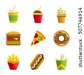 fast food vector cartoon icon... | Shutterstock .eps vector #507746914