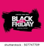 black friday sale banner | Shutterstock .eps vector #507747709