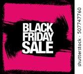 black friday sale banner | Shutterstock .eps vector #507747760