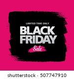 black friday sale banner | Shutterstock .eps vector #507747910
