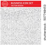 business icon set clean vector | Shutterstock .eps vector #507748453