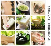 beautiful spa collage | Shutterstock . vector #50774893