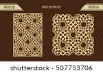 diy laser cutting set. woodcut... | Shutterstock .eps vector #507753706