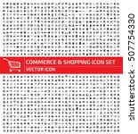 commerce and shopping icon set... | Shutterstock .eps vector #507754330