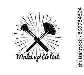 beauty salon badge. makeup... | Shutterstock .eps vector #507754504