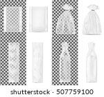 transparent shopping paper bag. ... | Shutterstock .eps vector #507759100