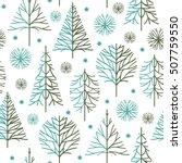 seamless christmas pattern | Shutterstock .eps vector #507759550