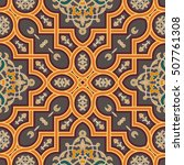oriental vector pattern with... | Shutterstock .eps vector #507761308