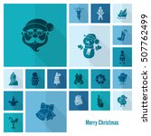 christmas and winter icons...   Shutterstock .eps vector #507762499
