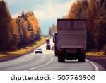 highway autumn landscape | Shutterstock . vector #507763900