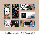 set of abstract creative cards. ... | Shutterstock .eps vector #507767590