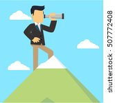 businessman on top of mountain... | Shutterstock .eps vector #507772408