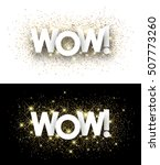 wow paper banners set with... | Shutterstock .eps vector #507773260